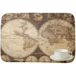 Vintage World Map Dish Drying Mat
