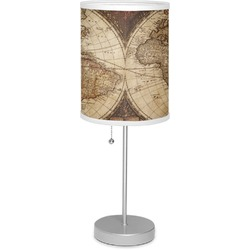 "Vintage World Map 7"" Drum Lamp with Shade"
