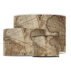 Vintage World Map Drum Lamp Shade