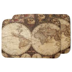 Vintage World Map Dish Drying Mat