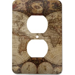 Vintage World Map Electric Outlet Plate