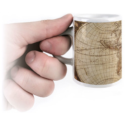 Vintage World Map Espresso Cups
