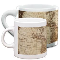 Vintage World Map Espresso Cups
