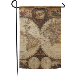 Vintage World Map Garden Flag - Single or Double Sided
