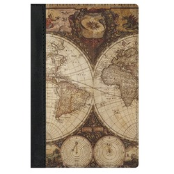 Vintage World Map Genuine Leather Passport Cover