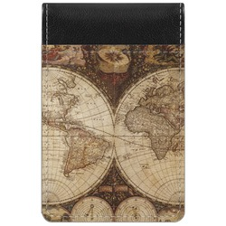 Vintage World Map Genuine Leather Small Memo Pad