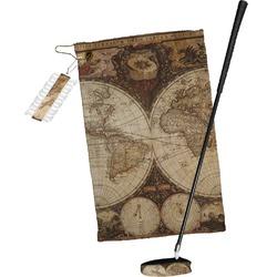 Vintage World Map Golf Towel Gift Set