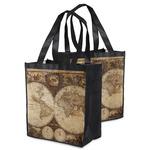 Vintage World Map Grocery Bag