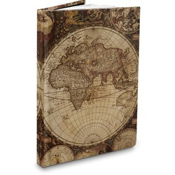 Vintage World Map Hardbound Journal