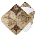 Vintage World Map Hooded Baby Towel
