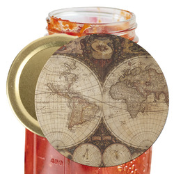 Vintage World Map Jar Opener
