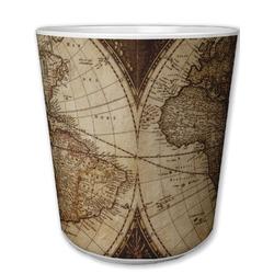 Vintage World Map Plastic Tumbler 6oz