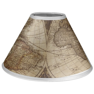 Vintage World Map Coolie Lamp Shade