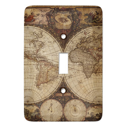 Vintage World Map Light Switch Covers - Multiple Toggle Options Available