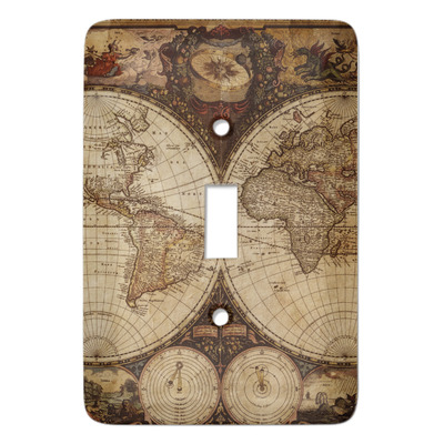 Vintage World Map Light Switch Covers