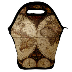 Vintage World Map Lunch Bag