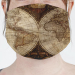 Vintage World Map Face Mask Cover
