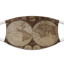 Vintage World Map Cloth Face Mask (T-Shirt Fabric)
