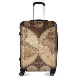 "Vintage World Map Suitcase - 24""Medium - Checked"