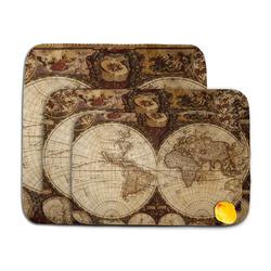 Vintage World Map Memory Foam Bath Mat