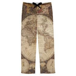 Vintage World Map Mens Pajama Pants