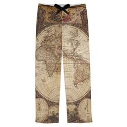 Vintage World Map Mens Pajama Pants