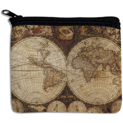 Vintage World Map Rectangular Coin Purse