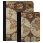 Vintage World Map Padfolio Clipboard