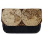 Vintage World Map Canvas Pencil Case