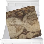 Vintage World Map Blanket