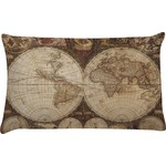 Vintage World Map Pillow Case