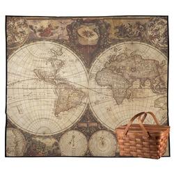 Vintage World Map Outdoor Picnic Blanket
