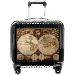 Vintage World Map Pilot / Flight Suitcase