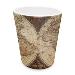 Vintage World Map Plastic Tumbler 6oz