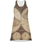 Vintage World Map Racerback Dress