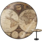 Vintage World Map Round Table