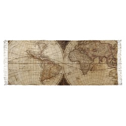 Vintage World Map Faux Pashmina Shawl