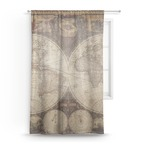 Vintage World Map Sheer Curtains