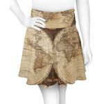 Vintage World Map Skater Skirt