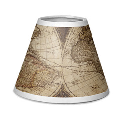 Vintage World Map Chandelier Lamp Shade