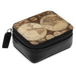 Vintage World Map Small Leatherette Travel Pill Case