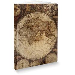 """Vintage World Map Softbound Notebook - 7.25"""" x 10"""""""