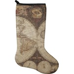 Vintage World Map Christmas Stocking - Neoprene