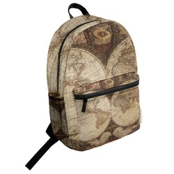 Vintage World Map Student Backpack
