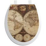 Vintage World Map Toilet Seat Decal