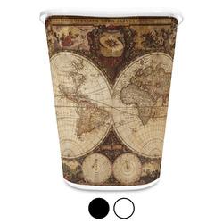 Vintage World Map Waste Basket