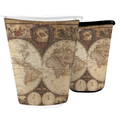 Vintage World Map Waste Basket