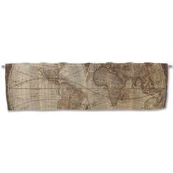 Vintage World Map Valance