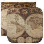Vintage World Map Facecloth / Wash Cloth