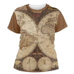 Vintage World Map Women's Crew T-Shirt
